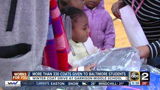 More than 330 coats given to Baltimore students