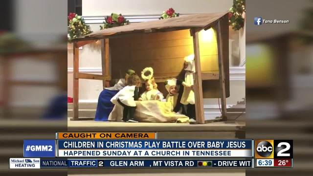 Young girl 'steals' baby Jesus in school nativity play