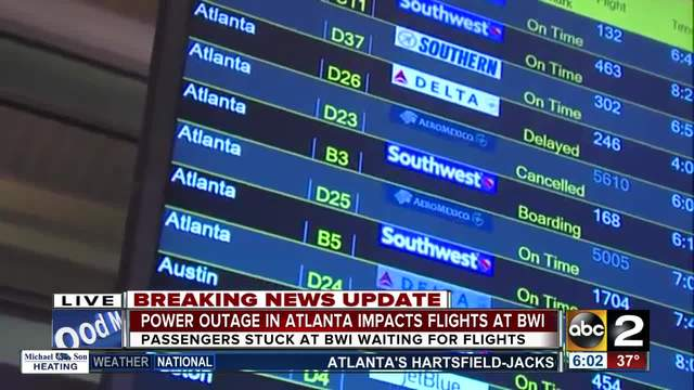 Atlanta International Airport power outage affects flights, leaves travelers in darkness