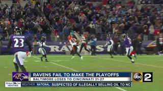 Ravens lose to the Bengals and miss the Playoffs