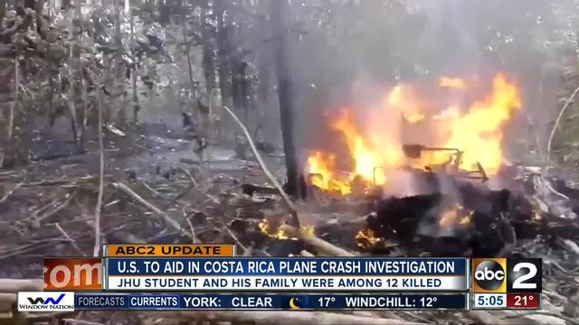 U.S. to aid in investigation of Costa Rica plane crash