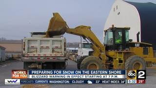 Eastern Shore prepares for winter storm