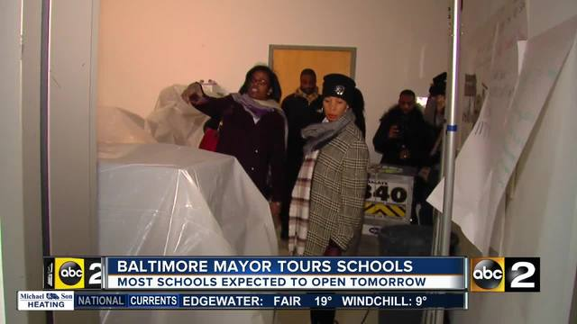 Crews working overtime to restore heat in Baltimore schools