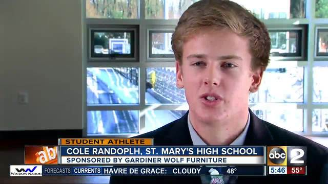 Student Athlete of the Week Cole Randolph