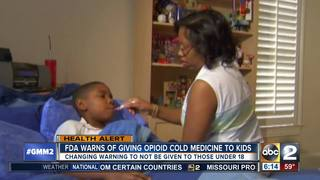 FDA warns against opioid cold medicine for kids