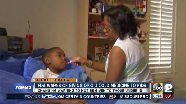 FDA warns against kids' cough medicine with codeine, hydrocodone