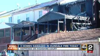 Multiple rowhomes damaged during Dundalk fire