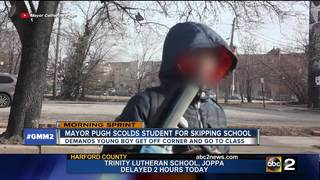 Mayor Pugh scolds student for skipping school