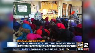 Students finally return to Calverton EMS