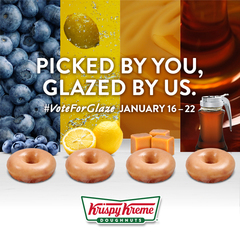 Vote on the new flavor of Krispy Kreme Donuts