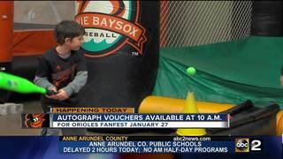 Orioles Fanfest autograph vouchers on sale