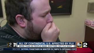 All of continental U.S. affected by flu
