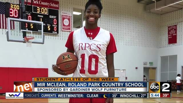student athlete of the week Mir McLean