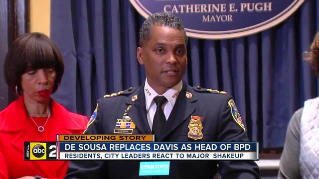 Kevin Davis, Baltimore police commissioner, ousted by Mayor Catherine Pugh