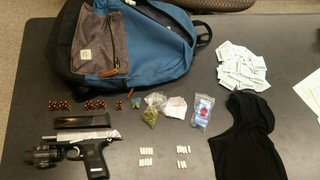 Man arrested with loaded handgun during stop