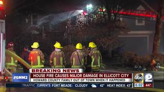 House fire damages home in Ellicott City