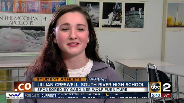 Student athlete of the week Jillian Creswell