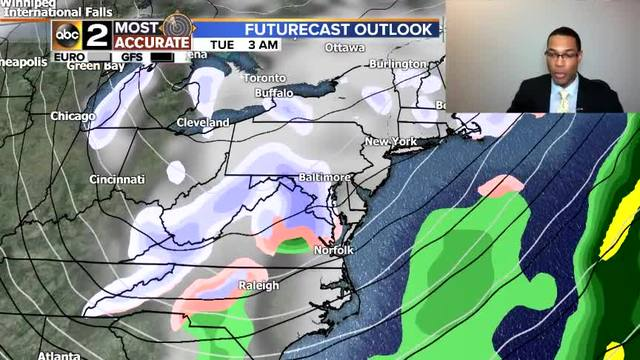 Monday forecast: sunny and windy, high 57