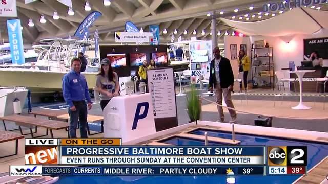 On the go Progressive Baltimore Boat Show