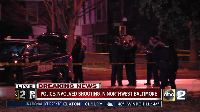 Man Killed In Officer-Involved Shooting In Northwest Baltimore