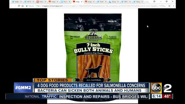 4 dog food companies issue recall over salmonella fears