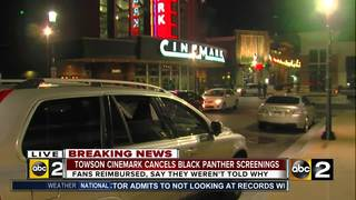 Towson theater cancels 'Black Panther' screening