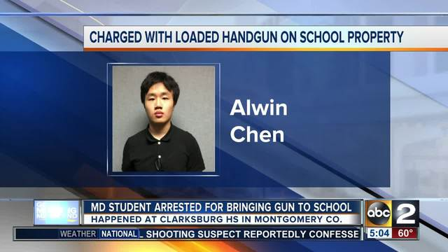 Year old high student arrested for bringing gun to school
