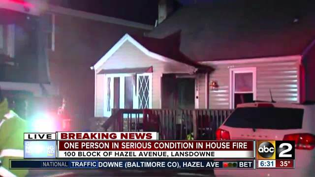 Man dies after house fire in Baltimore Co.