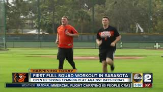 Orioles have first full workout in Sarasota