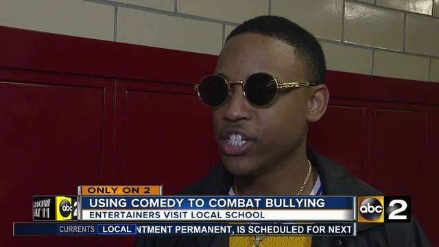 Entertainers using comedy to combat school bullying