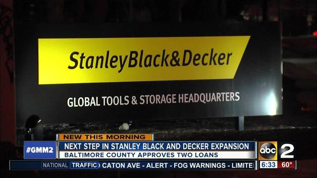 Stanley Black -amp- Decker one step closer to coming to Baltimore Co-