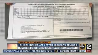 Burial insurance letter misleads seniors