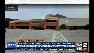 Teenager arrested for school shooting threat