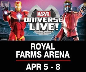 Win 4 vouchers to see 2018 Marvel Universe Live!