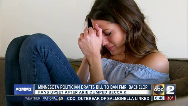 Lawmaker proposes bill to ban former bachelor from Minnesota