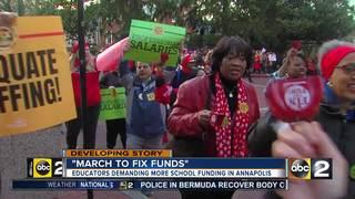Teachers, advocates rally in Annapolis