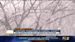 Carroll County expecting 8-18 inches of snow!
