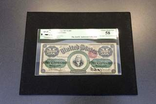 $1,000 bill to be auctioned at Convention Center