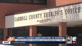 Carroll Co. schools staffed with deputies