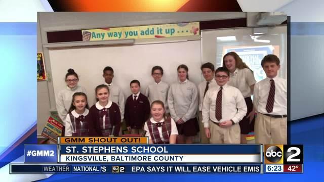 St- Stephen School says good morning-