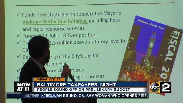Baltimore Taxpayers Night Gives People Chance To Sound Off On Budget