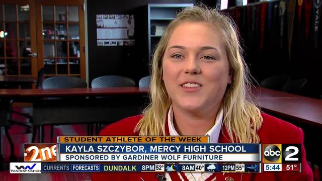 Student Athlete of the Week- Kayla Szczybor