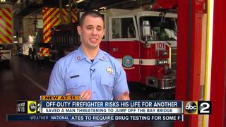 First responder saves man from suicide on bridge