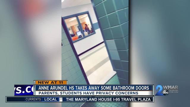 Anne Arundel Co. school takes away bathroom doors students parents speak out & Anne Arundel Co. school takes away bathroom doors students parents ...