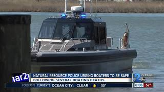 DNR police urging boaters to be safe
