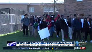 Students at Catonsville HS join walkout