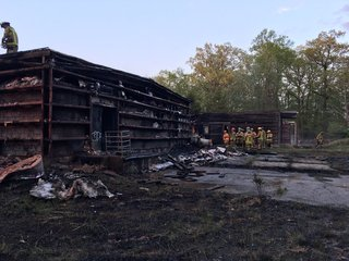 Former youth center goes up in flames