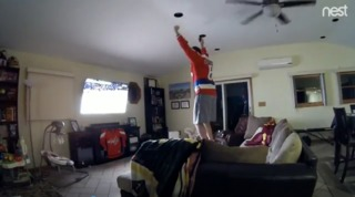 Dad celebrates Caps victory in a 'silent' way
