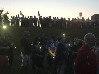 Emotional vigil for Officer Amy Caprio