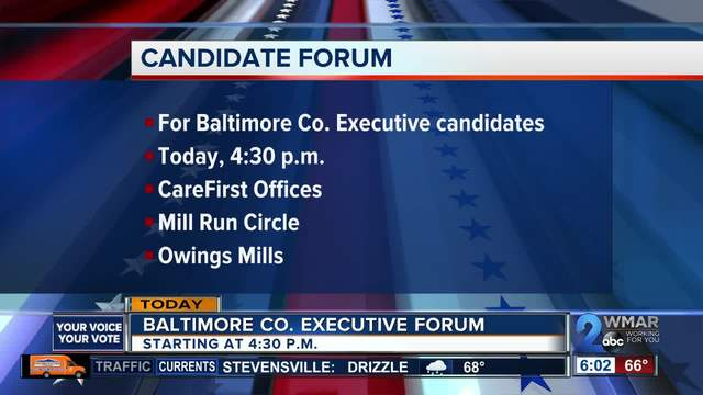 Baltimore County Executive candidates to participate in forum